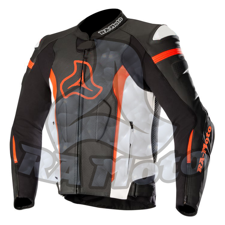 RA-3502 missile tech air race Motorbike leather Jacket