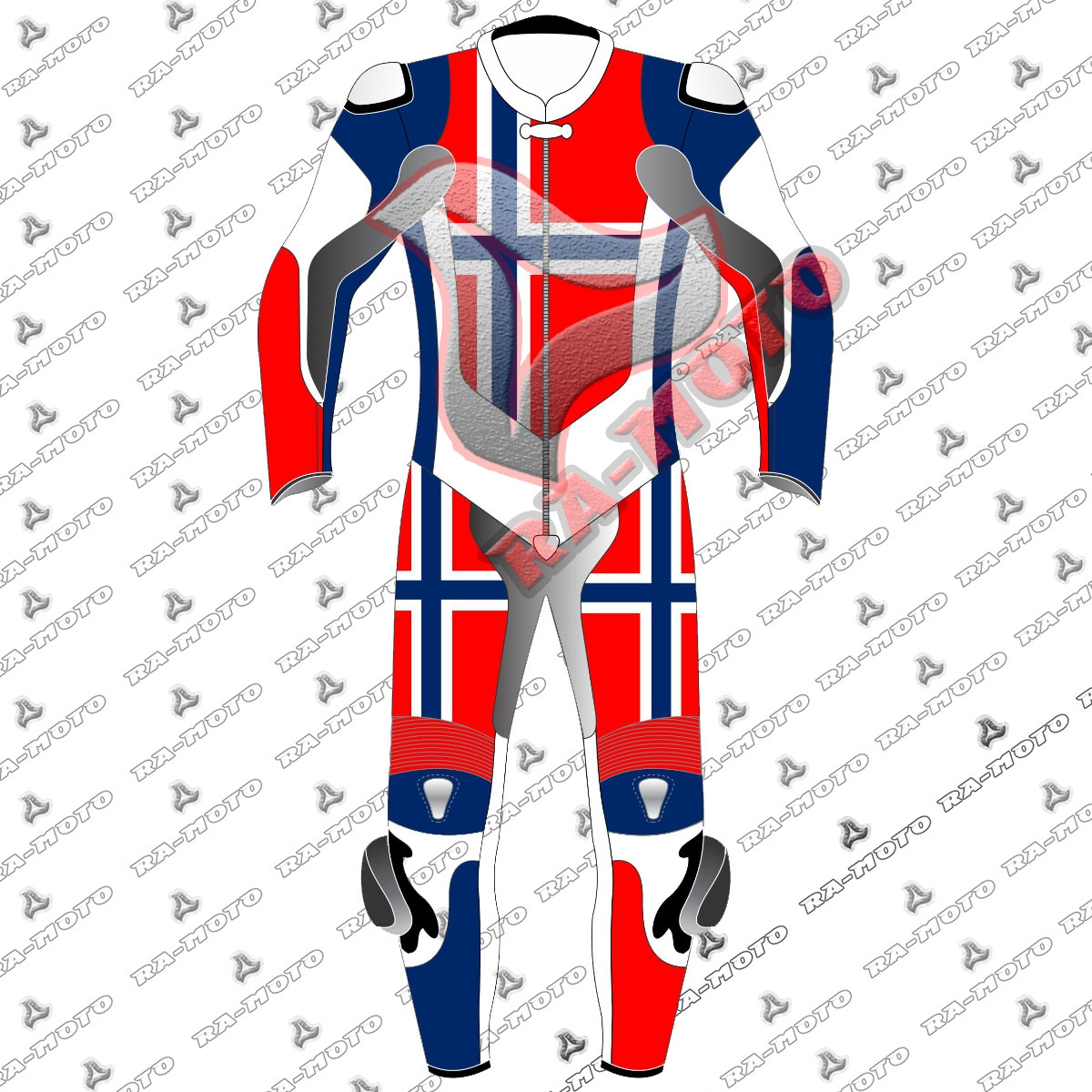 RA-15259 Norway Flag moterbike leather suit 2019