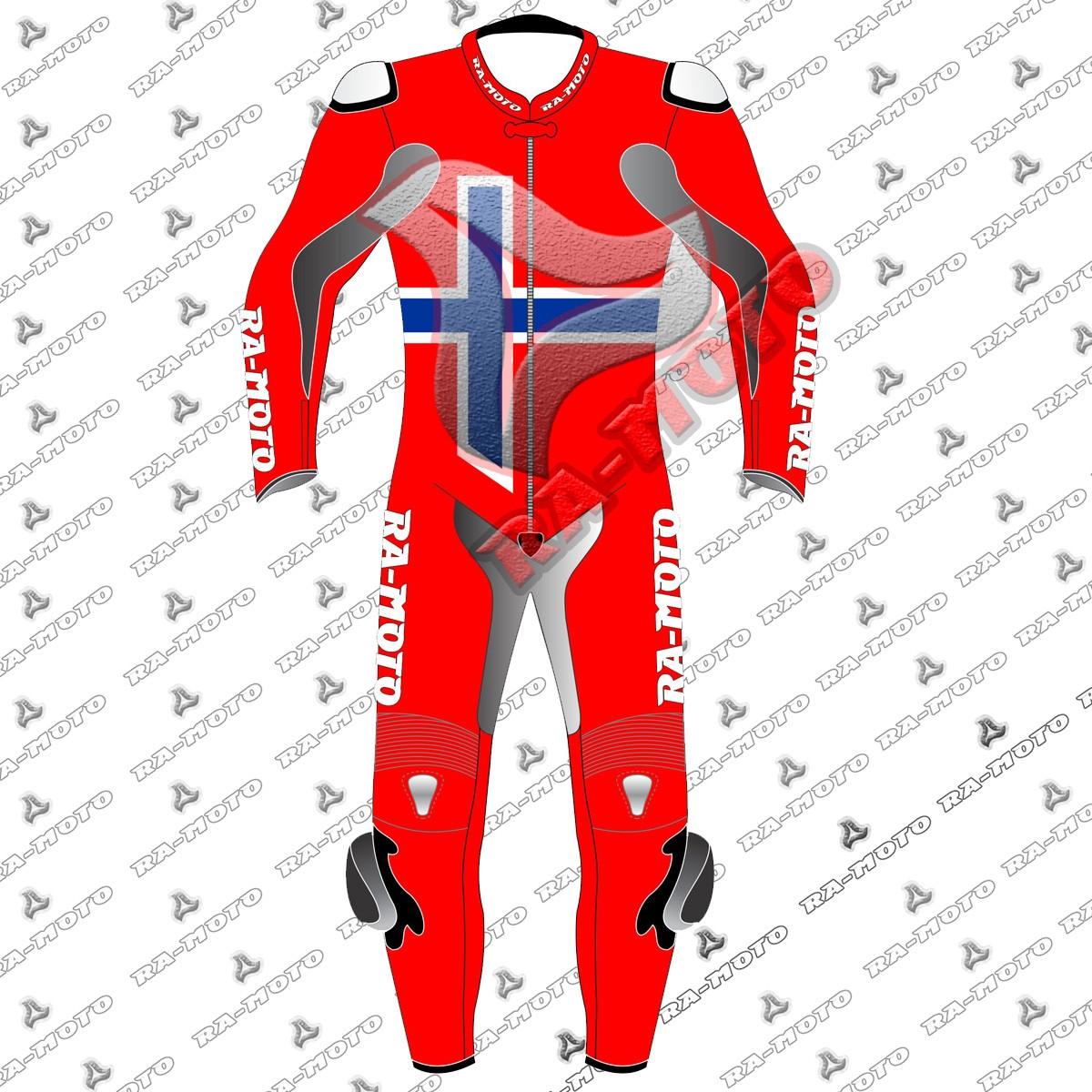 RA-15250 Norway flag moterbike leather suit 2019