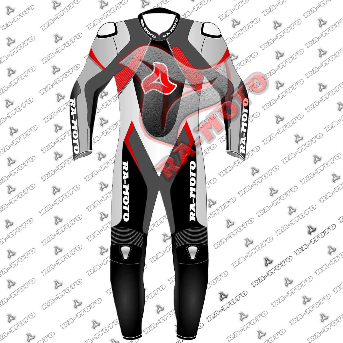 RA-15275  Fire  Motorbike Drag leather racing suit