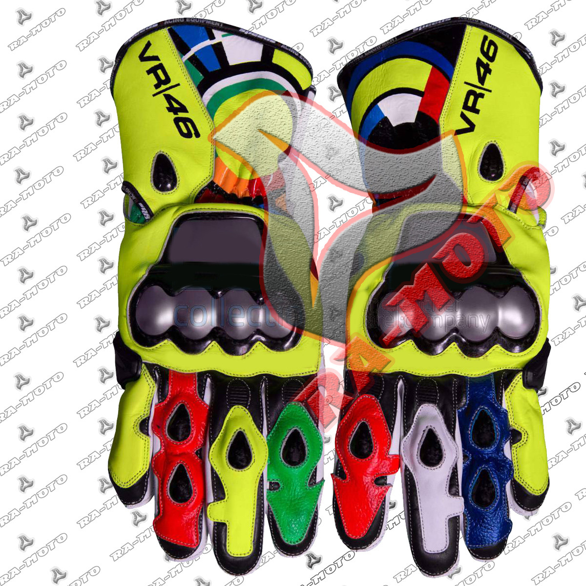 RA-15230 Valentino Rossi 2012 Racing Leather Gloves